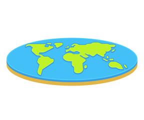 Flat earth concept illustration