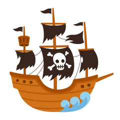 Pirate ghost ship cartoon