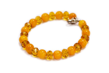 Bracelet made of yellow onyx