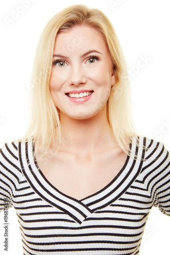 Bewerbungsfoto Einer Jungen Blonden Frau Stockfotos Und Lizenzfreie