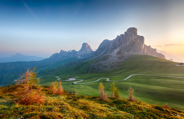 Mountain nature landscape in Dolomites Alps, Italy.
