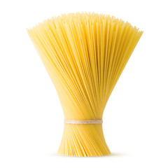 pasta, spaghetti, isolated on white background, clipping path