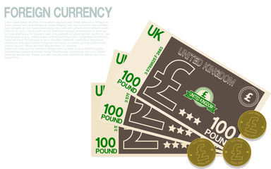 Composition of Pound currency on transparent background