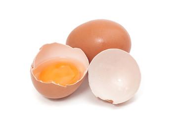 cracked egg with yolk