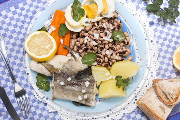 Cowpea with cod fish meal