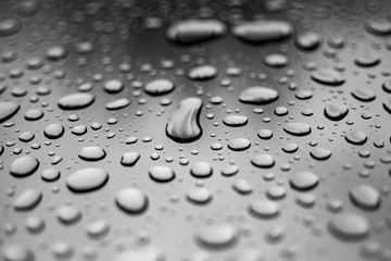 Abstract water or rain drops transparent background, wallpaper close-up