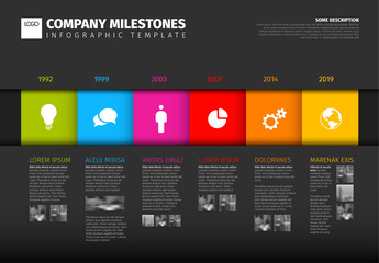 Vector colorful Infographic timeline report template