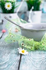 Easter table dinner