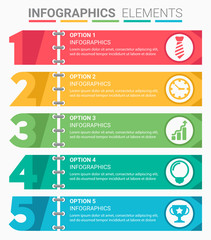 INFOGRAPHICS Element Abstract Design The Number Top Five List