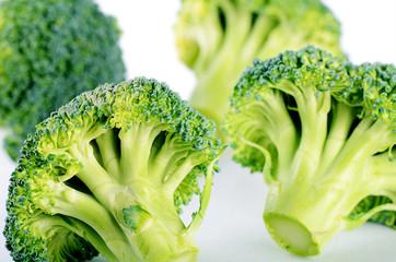 Fresh broccoli close up a background