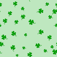 Green Clover Abstract Seamless Background for St Patricks Day.