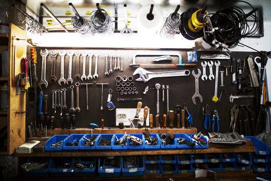 Workshop professional large set of tools.