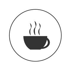 coffee and tea cup vector web icon