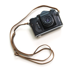Vintage camera isolate on white background
