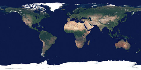 Large and detailed high resolution photo of the Earth. Texture of Earth's surface. Satellite image of planet Earth. Full world map.