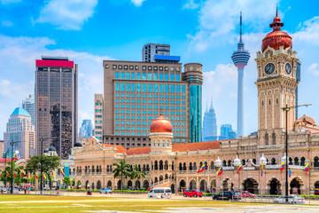 Fotobehang Kuala Lumpur Kuala Lumpur, Malaysia. Sultan Abdul Samad building in Merdeka Square.