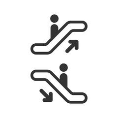 Escalator elevator icon. Vector illustration. Business concept escalator pictogram.
