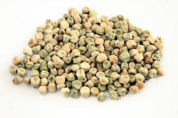 seeds of green peas vegetable