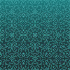 Seamless Damask Background Pattern Design and Wallpaper Made of Turkish Texture Ceramic Tiles in Raster.