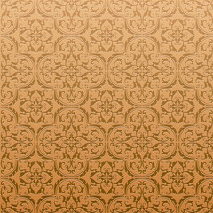 Seamless Damask Background Pattern Design and Wallpaper Made of Turkish Texture Ceramic Tiles in Raster
