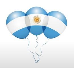 Balloons in Raster as National Flag