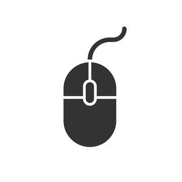 Computer Mouse icon. Vector illustration. Business concept mouse cursor pictogram.