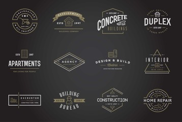 Set of Raster Construction Building Icons Home and Repair can be used as Logo or Icon in premium quality