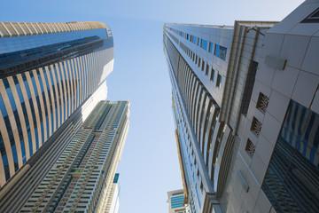 High rise and modern buildings in Dubai Marina, UA