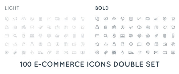 Set of Raster E-Commerce Icons Shopping and Online can be used as Logo or Icon in premium quality