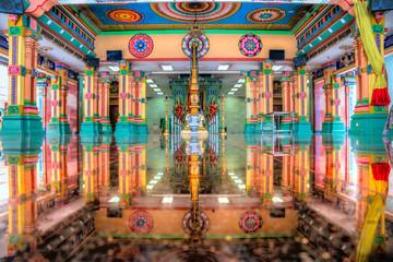 Sri Maha Mariamman Temple Dhevasthanam, Hindu temple in Chinatown. Kuala Lumpur, Malaysia.