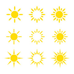 Creative Yellow Sun Icon Design Collections