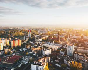 Fototapeta Sosnowiec Śródmieście z powietrza obraz
