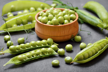Pods of peas