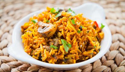 Indian Mushroom Basmati Rice