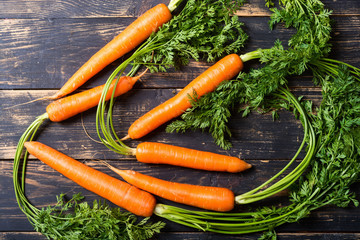 Vegetable carrot with leaves