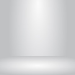 Vector studio room grey gradient background well use for present product.