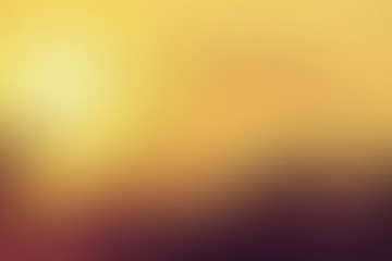 Gradient abstract background sunset, dawn, sun, evening, reflection, rays, warmth, coziness, with copy space