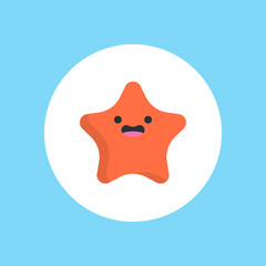 Starfish flat vector
