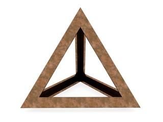 Tetraedron, Leonardo da Vinci, illustration for the Divina Proportione book page 193.