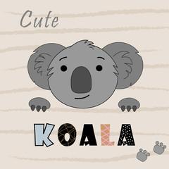 illustration with koala character.