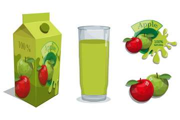 Fresh Juice logo. Healthy drink. Juice is a nutritious liquid. Ecologically pure natural juice.