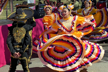 A dance troupe performs traditional Mexican dances in Washington