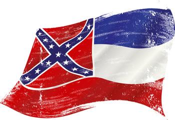 waving Mississippi grunge flag