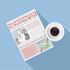 Newspaper. Concept newspaper template.