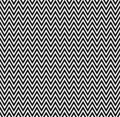 horizontal black and white zigzag stripes pattern. Geometric repeating pattern of zigzag. Vector background design