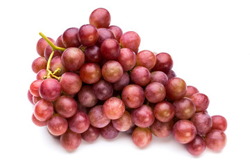 Ripe red grape isolated on white. Fototapete