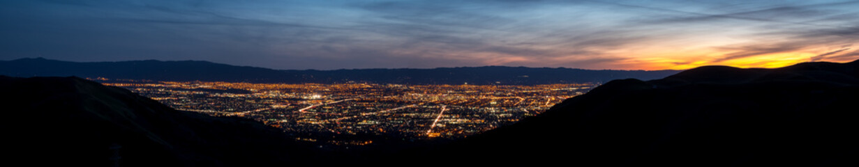 San Jose Night Lights in the Sillicon Valley