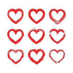 Wall Mural - Set o hearts icons. Vector illustration.