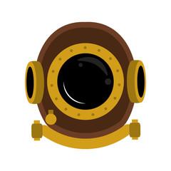 Antique diving helmet vector illustration graphic design