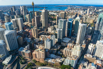 Garden Poster Sydney Aerial view of Sydney CBD